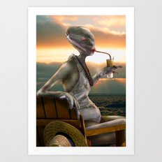 Alien Abroad Art Print
