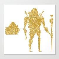 living robotic coral warrior  Canvas Print