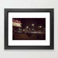Small Town, Fast Lights Framed Art Print