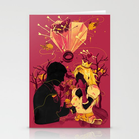 2 Hearts 2 Love Stationery Card