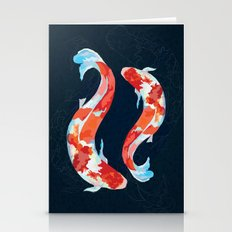 Lucky Koi Fish Stationery Cards
