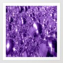 Purple Ornaments Art Print