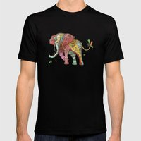 Elephant Ini Mens Fitted Tee Black SMALL