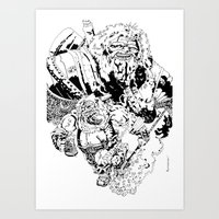 Balthazar Dwarven Party Machine Art Print