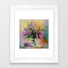 Lilac Bouquet Framed Art Print