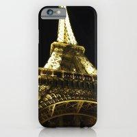 iPhone & iPod Case featuring Tour Eiffel By Night by Lucrezia Semenzato
