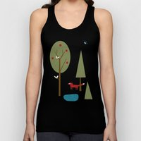 Fox in the Forest Unisex Tank Top