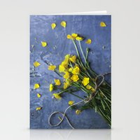 Buttercup Bouquet - Yellow  Stationery Cards