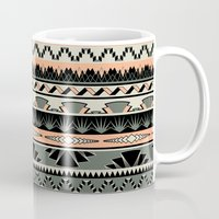 art deco stripes - salmon Mug