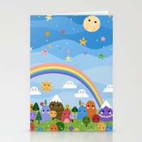 Cute World Stationery Cards