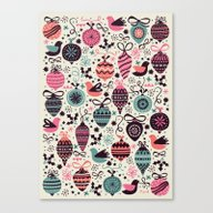 Birds And Baubles  Canvas Print