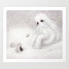 A Yeti Art Print