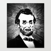 16. Zombie Abraham Lincoln  Canvas Print