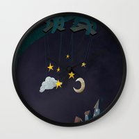 The Night Puppeteer Wall Clock