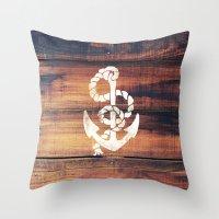 Vintage Nautical Anchor … Throw Pillow