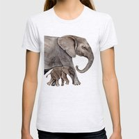Elephants Womens Fitted Tee Ash Grey SMALL
