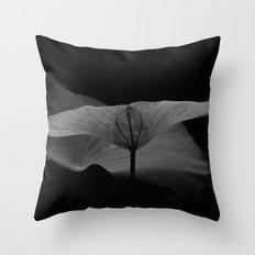 Lotus Leaf Edges Throw Pillow