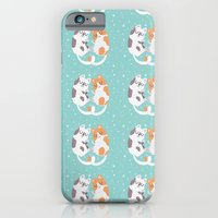 iPhone & iPod Case featuring Kitty Cuddles by Claire Stamper