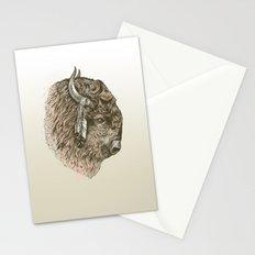 Buffalo Portrait Stationery Cards