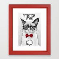 Grumpy Chemistry Cat Framed Art Print