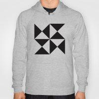 B/W triangle X4 pattern Hoody