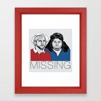 Missing Framed Art Print