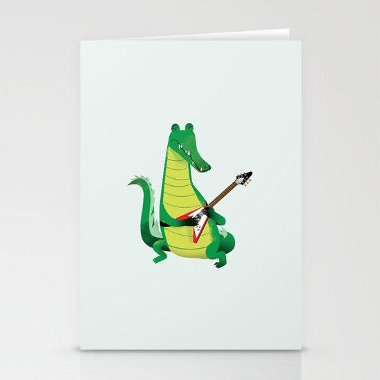 Crocodile Rock Stationery Card