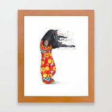 Stripping Darkness Framed Art Print