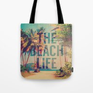 Tote Bag featuring Beach Life by M Studio