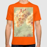 Postcard Mens Fitted Tee Orange SMALL