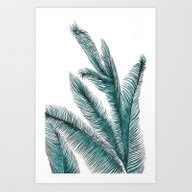 Art Print featuring Palm by Alicia Bazan