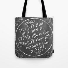 Give Joy  Tote Bag