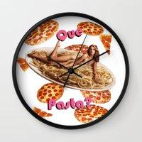 Que Pasta? Wall Clock
