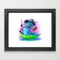 pirate worm Framed Art Print
