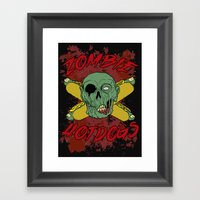 zombie hotdogs part deux Framed Art Print