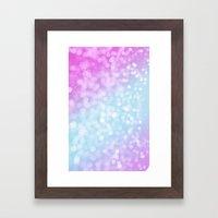 Pastel Glow Framed Art Print