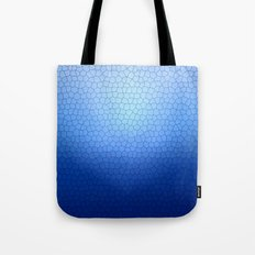 Blue Stained Glass  Tote Bag