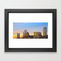 Sunset From The Southsid… Framed Art Print