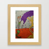 Tim and Missis Tree Framed Art Print