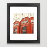 Telephone - London Photography Framed Art Print