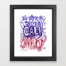 Better Call 666 (Coloured version) Framed Art Print
