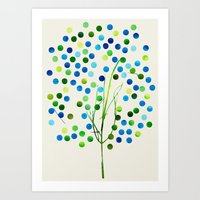 Tree of Life Aqua  by Jacqueline Maldonado & Garima Dhawan Art Print