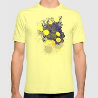 Gold and Blue Harmony Mens Fitted Tee Lemon SMALL