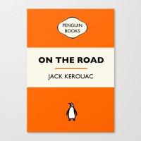 Penguin Book / On The Road - Jack Kerouac  Canvas Print