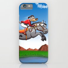 Olympic Equestrian Jumping Dog iPhone 6 Slim Case