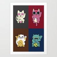 Adventure Time Lucky Cats Art Print