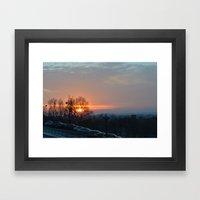 Sunset in Montreal Framed Art Print