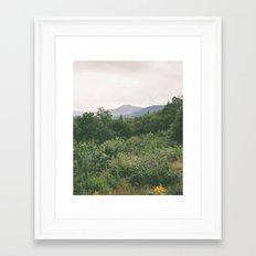 i'm just a flower among mountains Framed Art Print