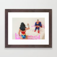 Cuffs Or Lasso? Framed Art Print