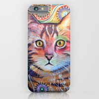 iPhone & iPod Case featuring Olivia ... abstract cat art by Amy Giacomelli